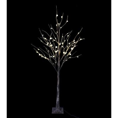 6 ft. Pre-Lit LED Birch Tree with Natural Wild and 72 Warm White Lights