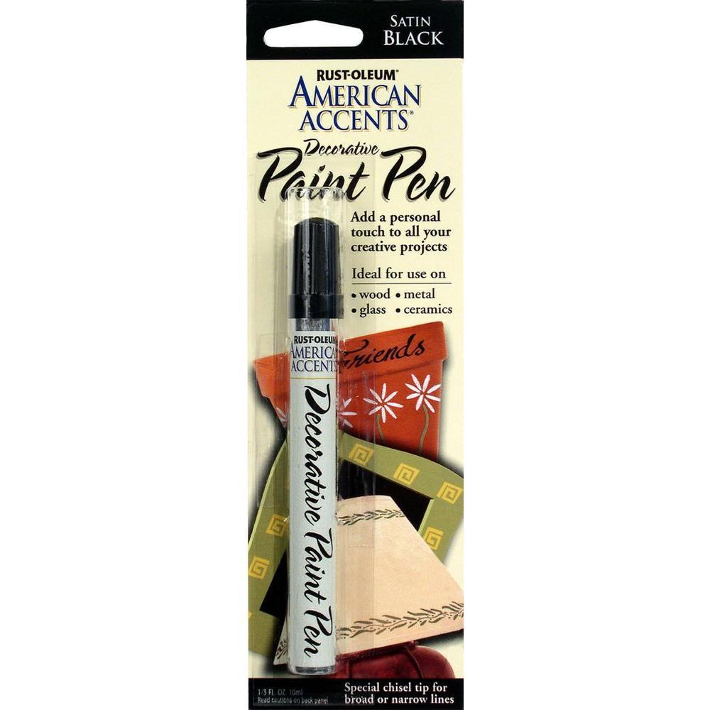 Satin Black Decorative Paint Pen (6-Pack)