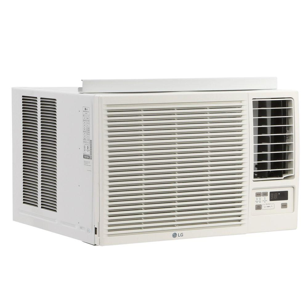 ac heat window unit. lg electronics 23,000 btu 230/208-volt window air conditioner with cool, heat and remote-lw2415hr - the home depot ac unit o