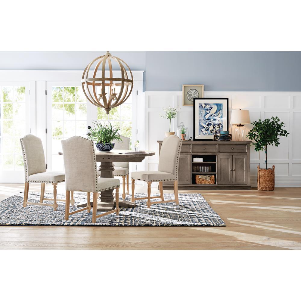 8a0c633b190 Home Decorators Collection Aldridge Antique Grey Round Dining Table ...