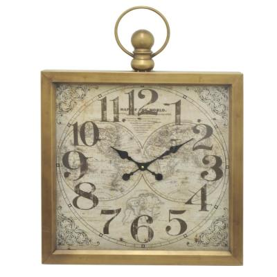 23.5 in. x 2.5 in. Metal Frame Wall Clock in Gold