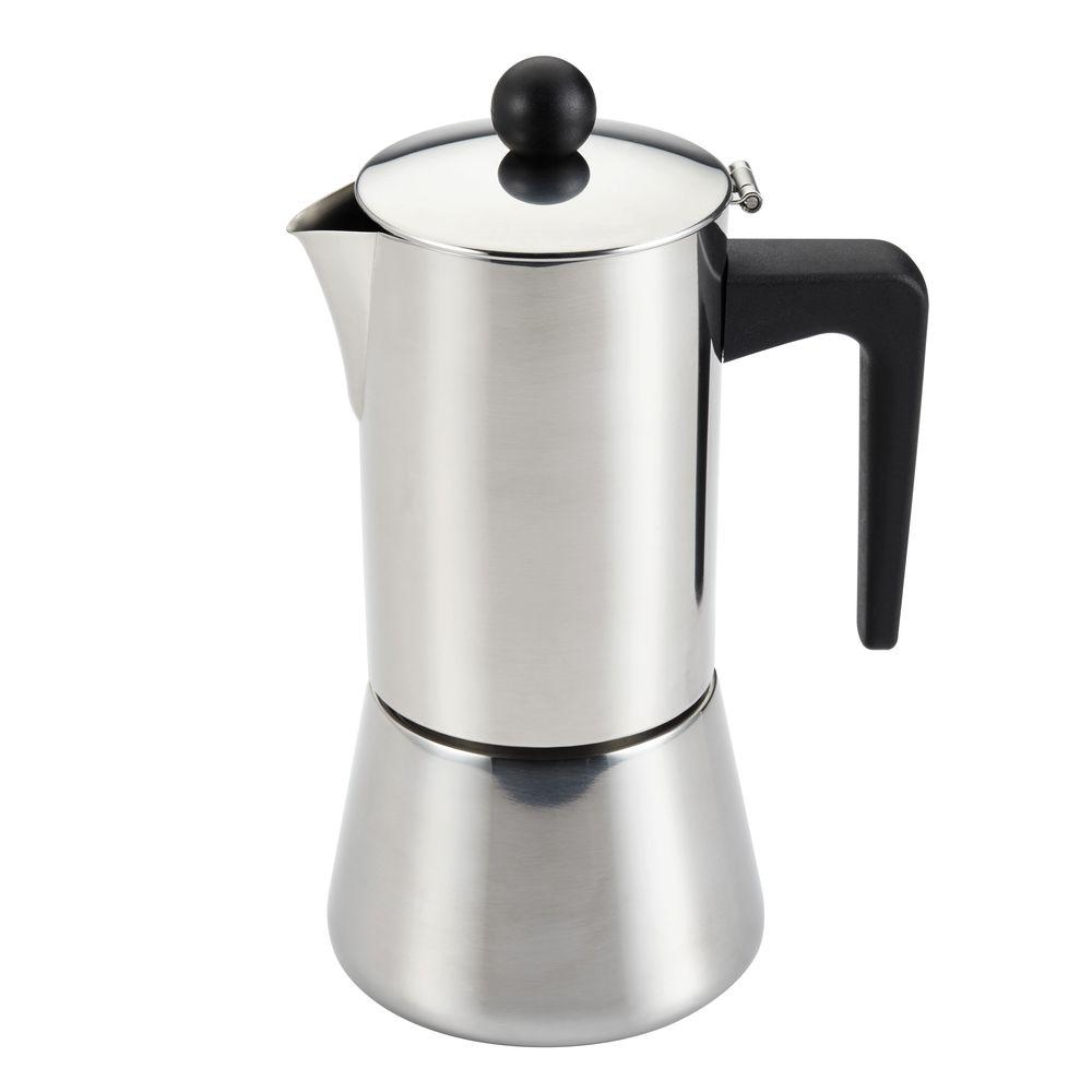 Bonjour 6 Cup Stovetop Espresso Maker In Stainless Steel