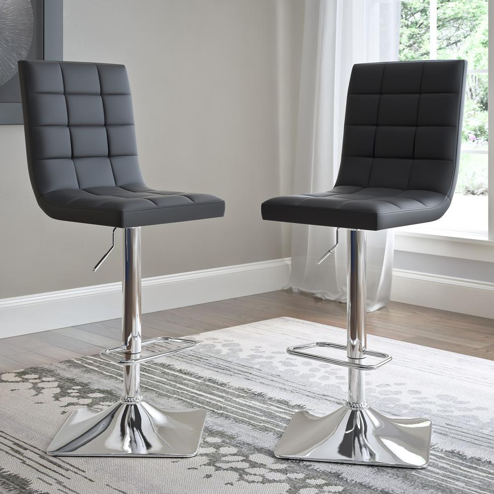 CorLiving Adjustable Height Black Bonded Leather Swivel  : black corliving bar stools dpu 904 b 641000 from www.homedepot.com size 1000 x 1000 jpeg 117kB