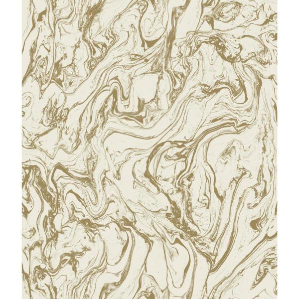 RoomMates 28.18 sq. ft. Gold Marble Peel and Stick Wallpaper RMK9080WP
