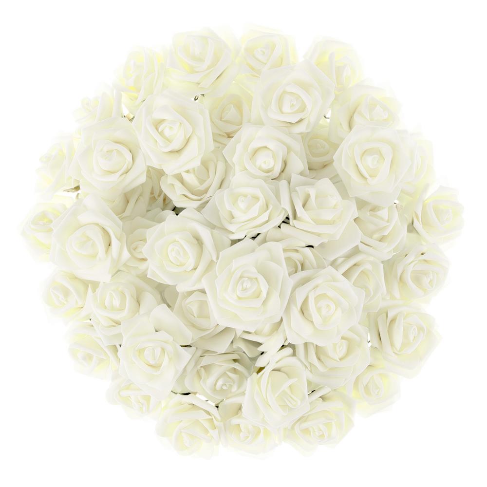 Artificial Rose Bundle in Ivory (Set of 50)
