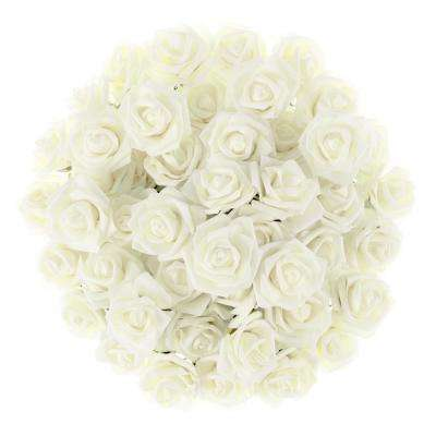 Artificial Rose Bundle in Ivory (Set of 50)