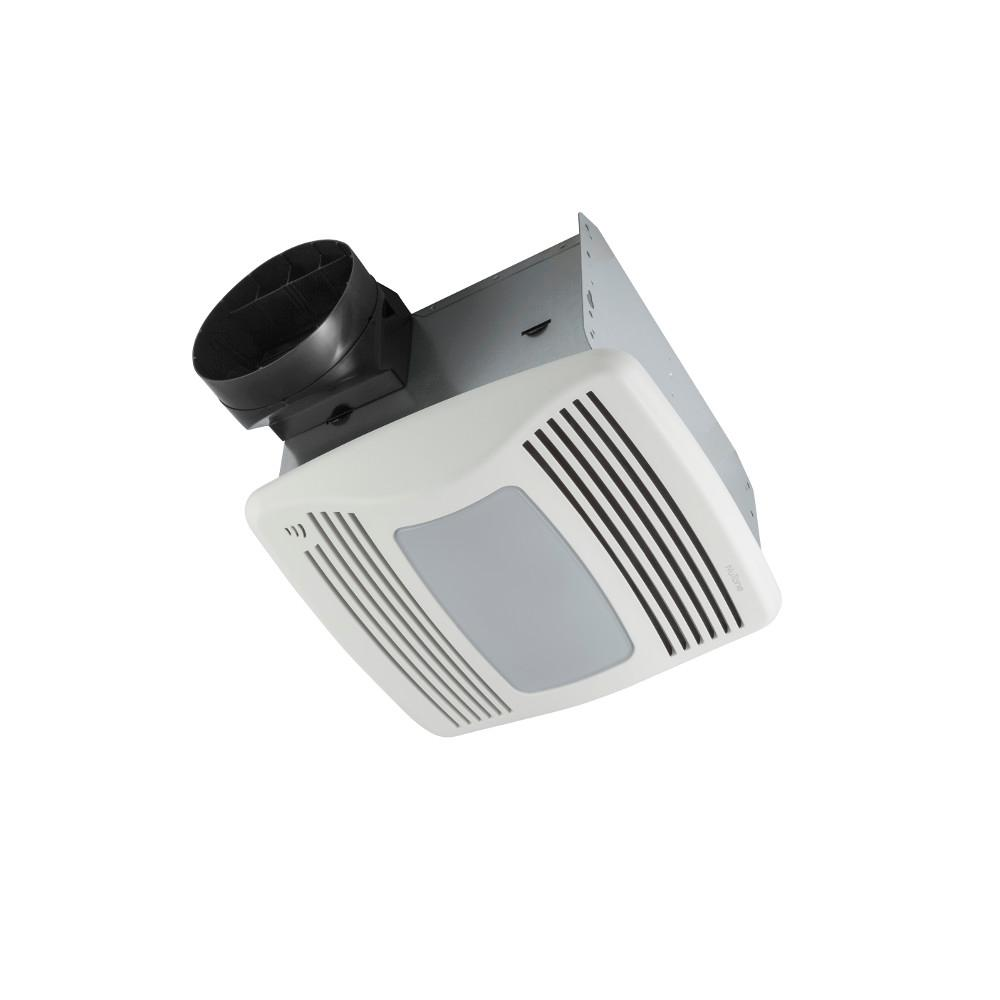 bathroom fan with light nutone qtxen series 110 cfm ceiling humidity 15822
