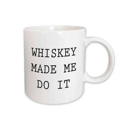 Tory Anne Collections Quotes WHISKEY MADE ME DO IT 11 oz. White Ceramic Coffee Mug