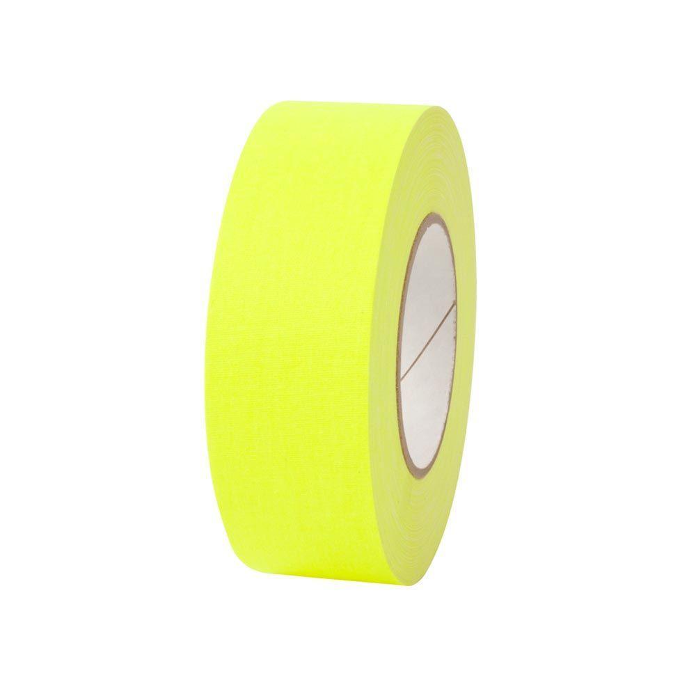 Pratt Retail Specialties 2 in. x 50 yds. Fluorescent Yellow Gaffer Industrial Vinyl Cloth Tape (3-Pack)