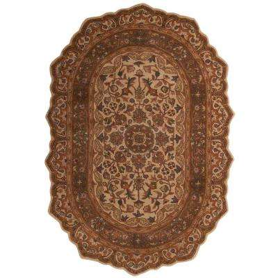 Masterpiece Taupe 8 ft. x 10 ft. Oval Area Rug