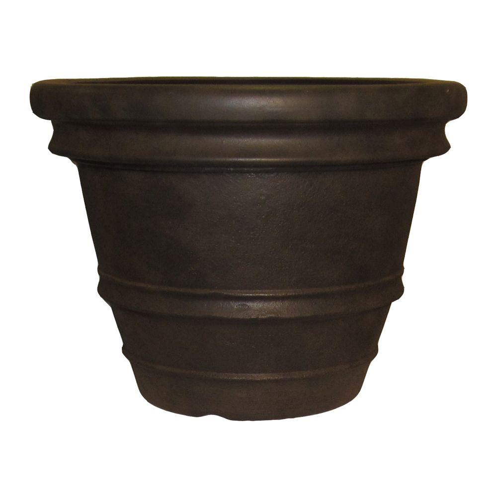 null Tuscany 22 in. Round Java Resin Planter