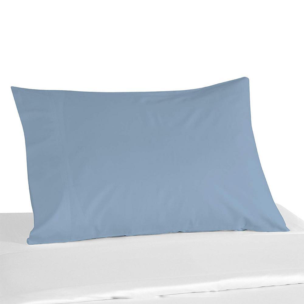 100% Light Blue Color Cotton Pillowcase