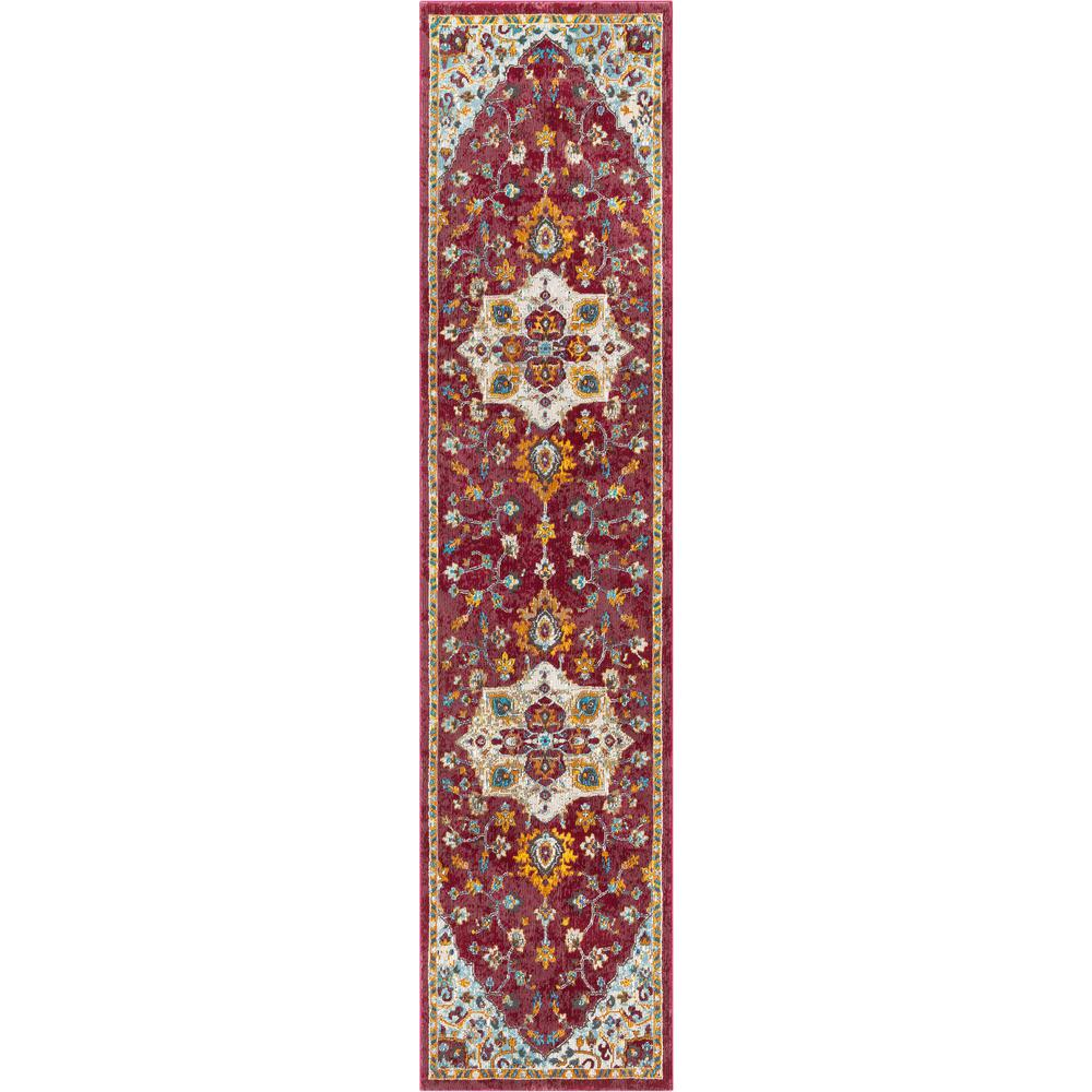 Well Woven Allure Ari Red Vintage Serapi Medallion 2 Ft 7 In X 9