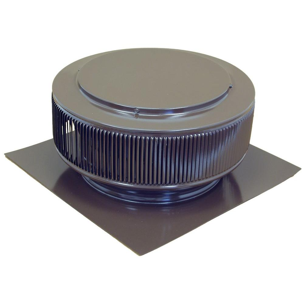12 in. Brown Powder Coated Aluminum Roof Vent No Moving Parts