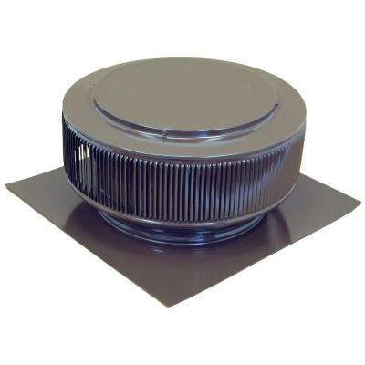 12 in. Brown Powder Coated Aluminum Roof Vent No Moving Parts Wind Turbine