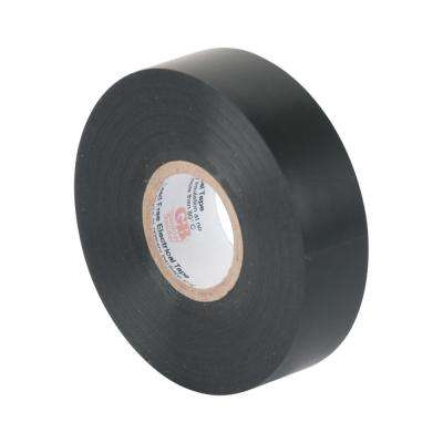 3/4 in. x 60 ft. Black Electrical Tape 10-Pack Sleeve (Case of 10)