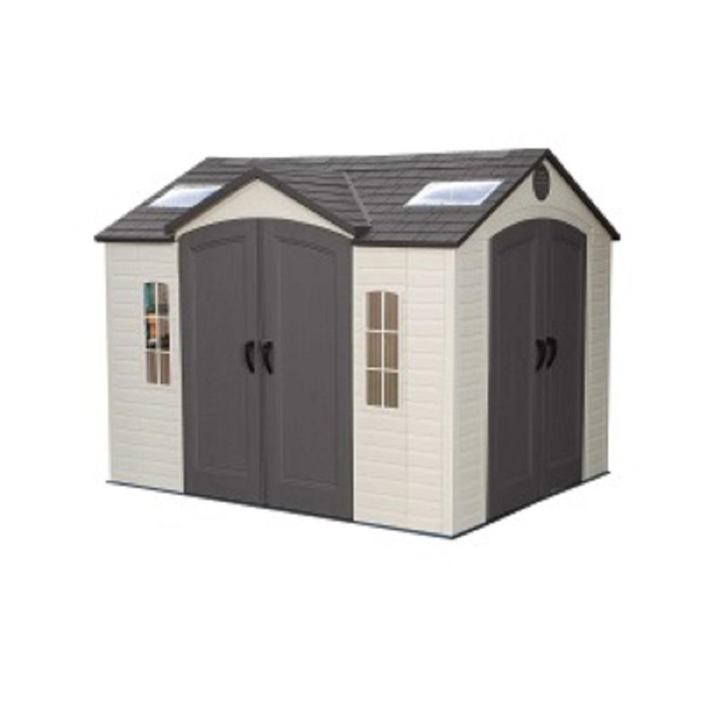 10 ft. x 8 ft. High-Density Polyethylene (HDPE) Shed