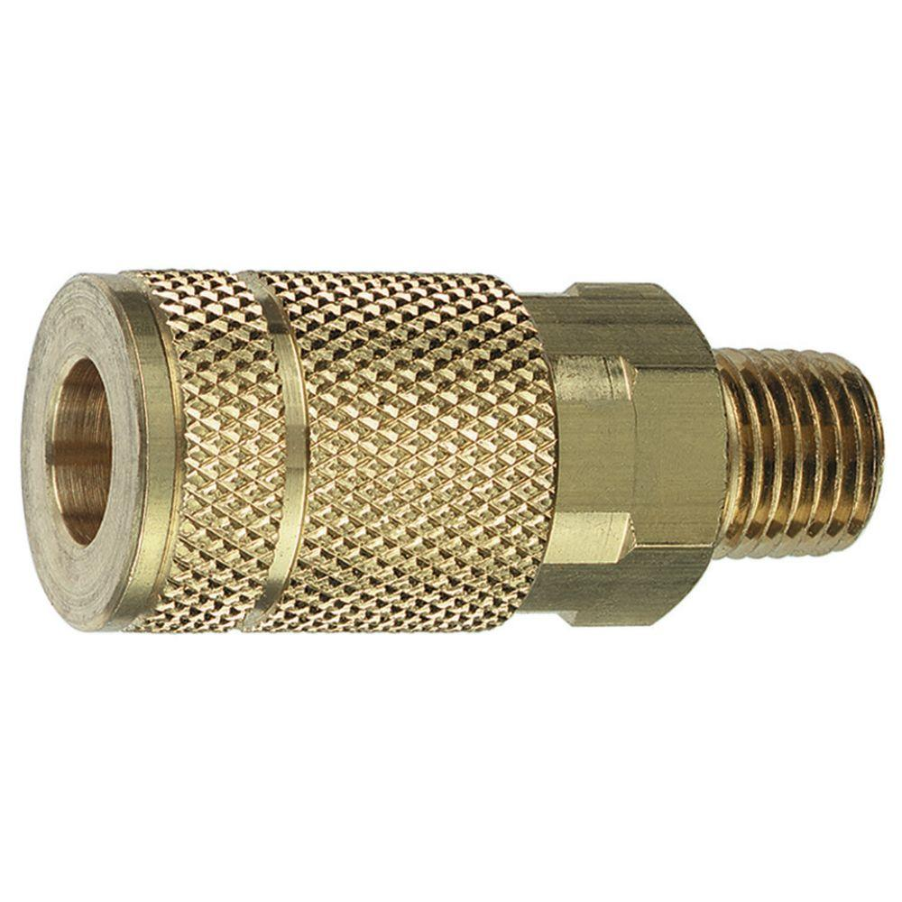 1/4 in. MNPT x 1/4 in. Brass Auto Coupler