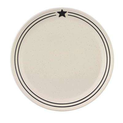 Country Star Cream Dinner Plate (Set of 4)