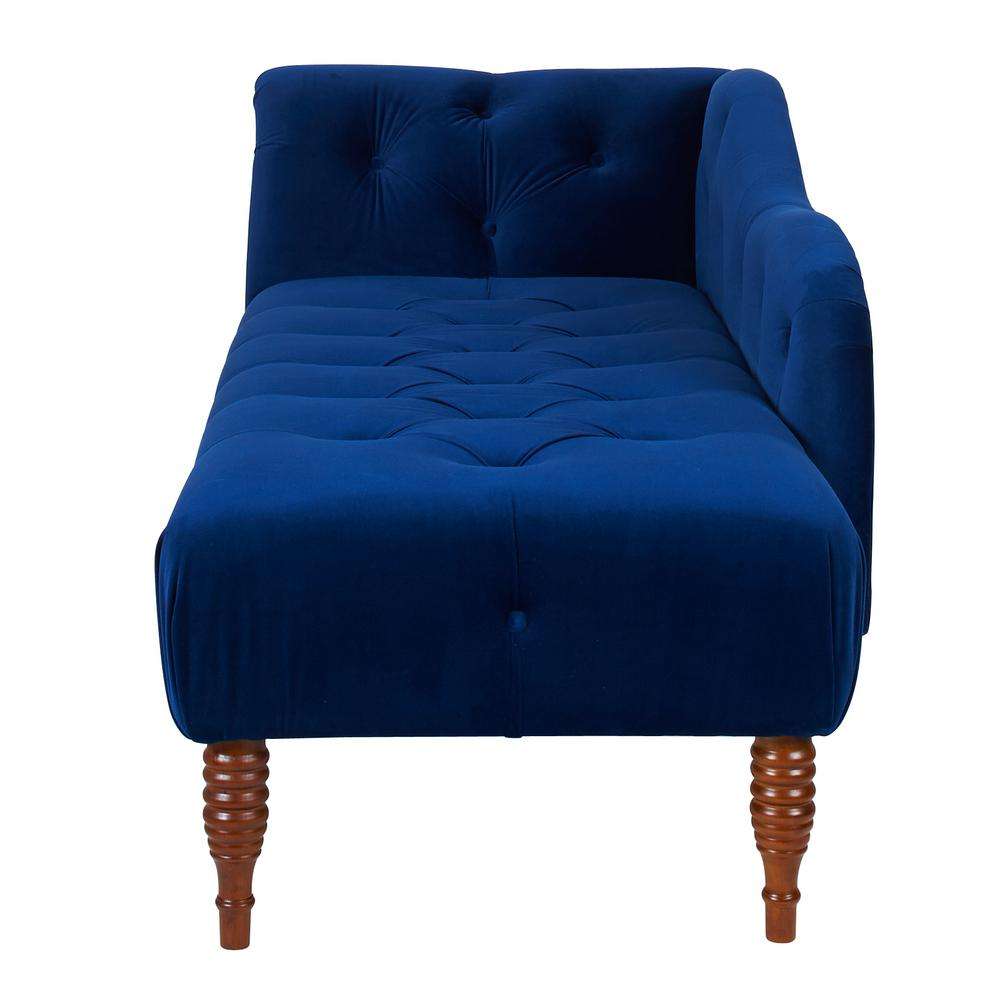 Navy Blue Right Arm Facing Samuel Chaise Lounge