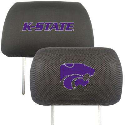 NCAA Kansas State University Embroidered Head Rest Covers (2-Pack)
