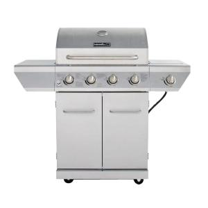 Click here to buy Nexgrill 4-Burner Propane Gas Grill in Stainless Steel with Side Burner and Stainless Steel Doors by Nexgrill.