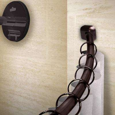 41-72 in. Curved Shower Curtain Rod with Rust Prevention in Bronze