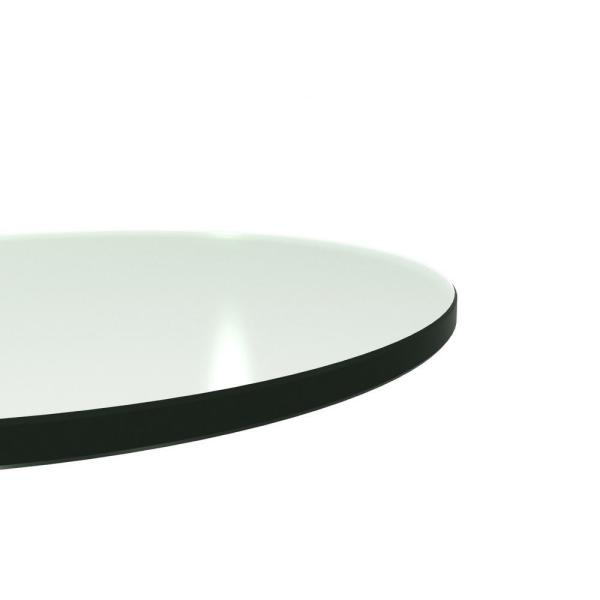 Round Gl Table Top Back