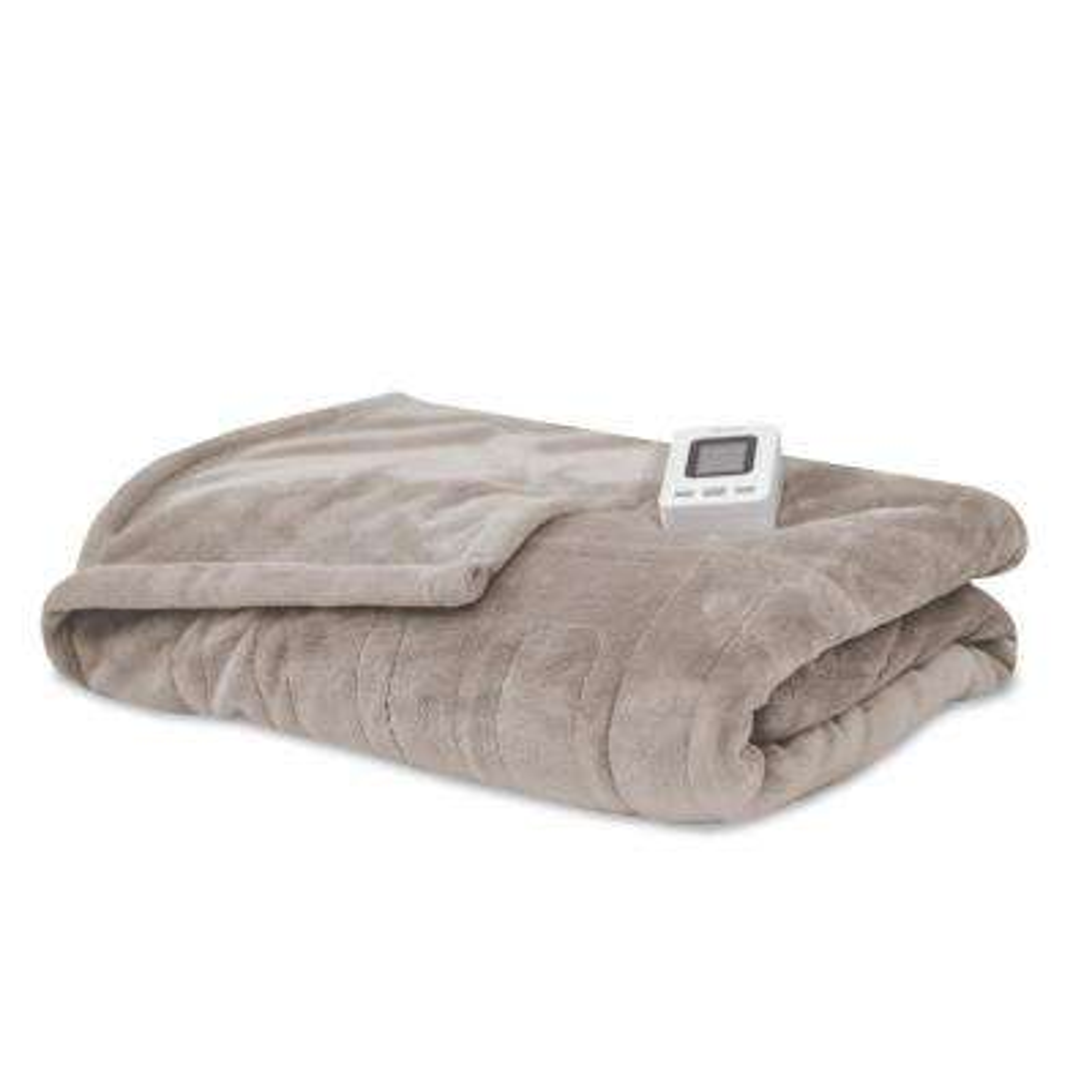 Cappuccino 100% Polyester Fleece Full Warming Blanket