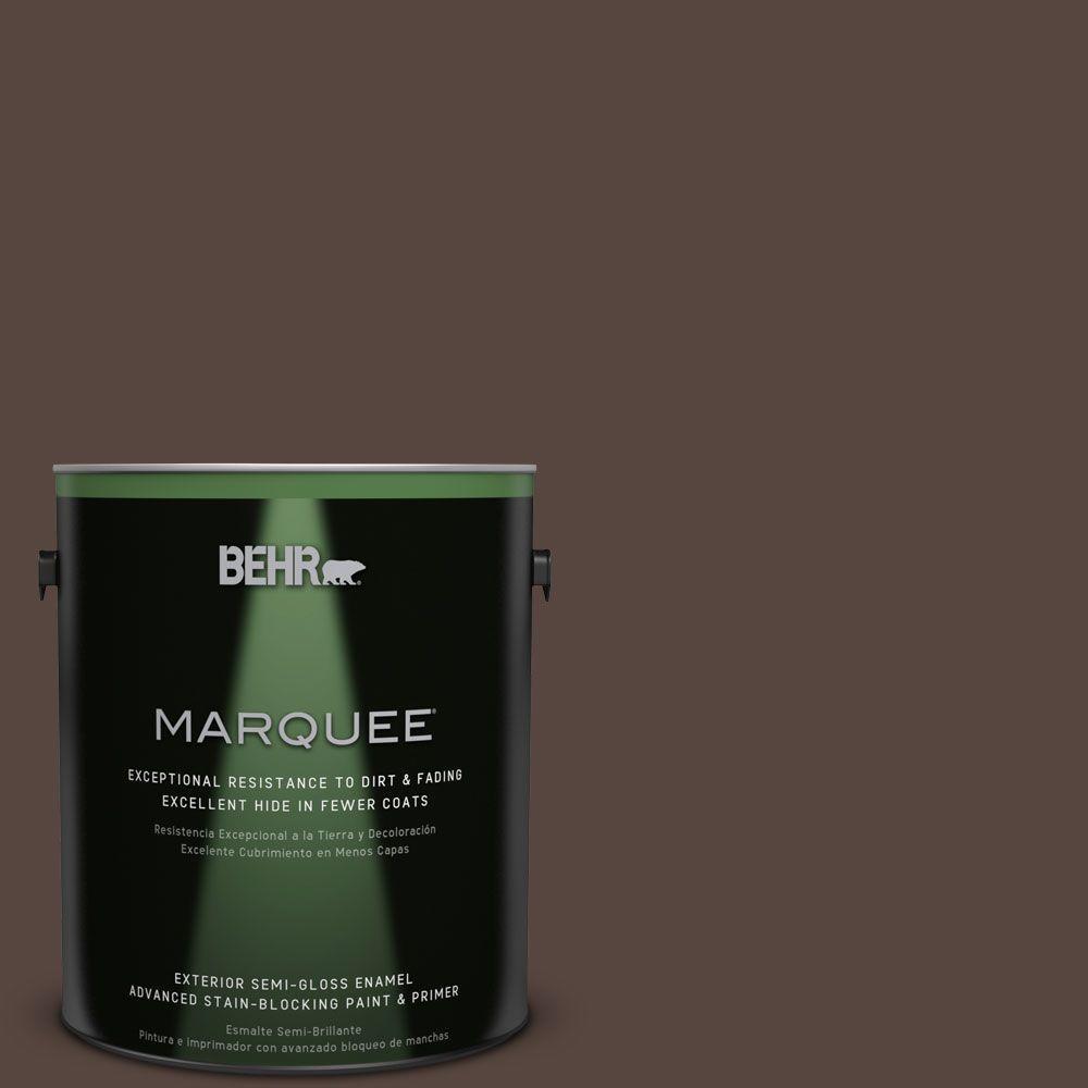 1-gal. #PMD-91 Iced Espresso Semi-Gloss Enamel Exterior Paint