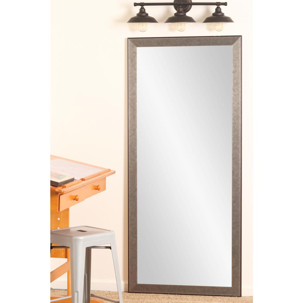Industrial Floor Mirror: BrandtWorks Industrial Metal Slim Floor Mirror-BM66THIN