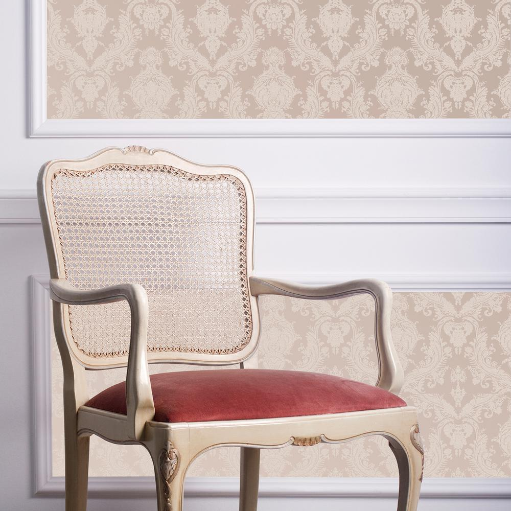 Tempaper Textured Damsel Bisque Peel And Stick Wallpaper 56 Sq Ft