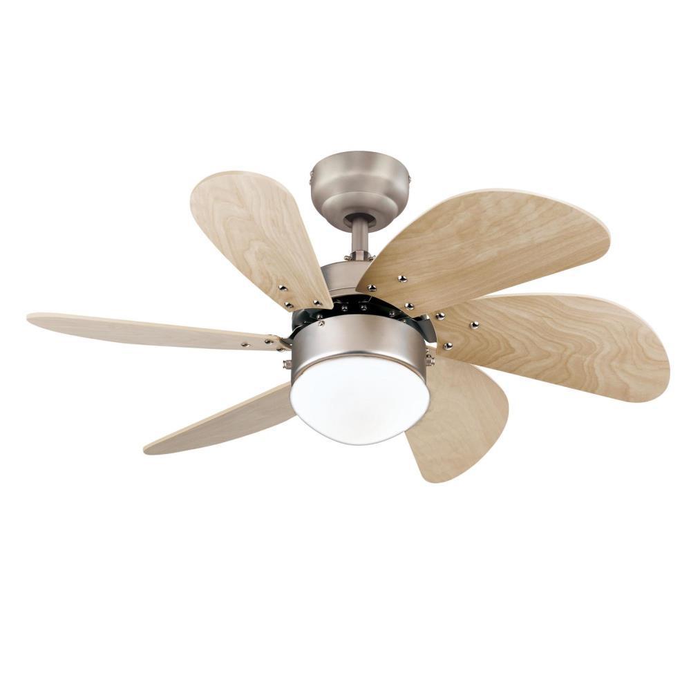 Turbo Swirl 30 in. LED Brushed Aluminum Ceiling Fan with Light Kit