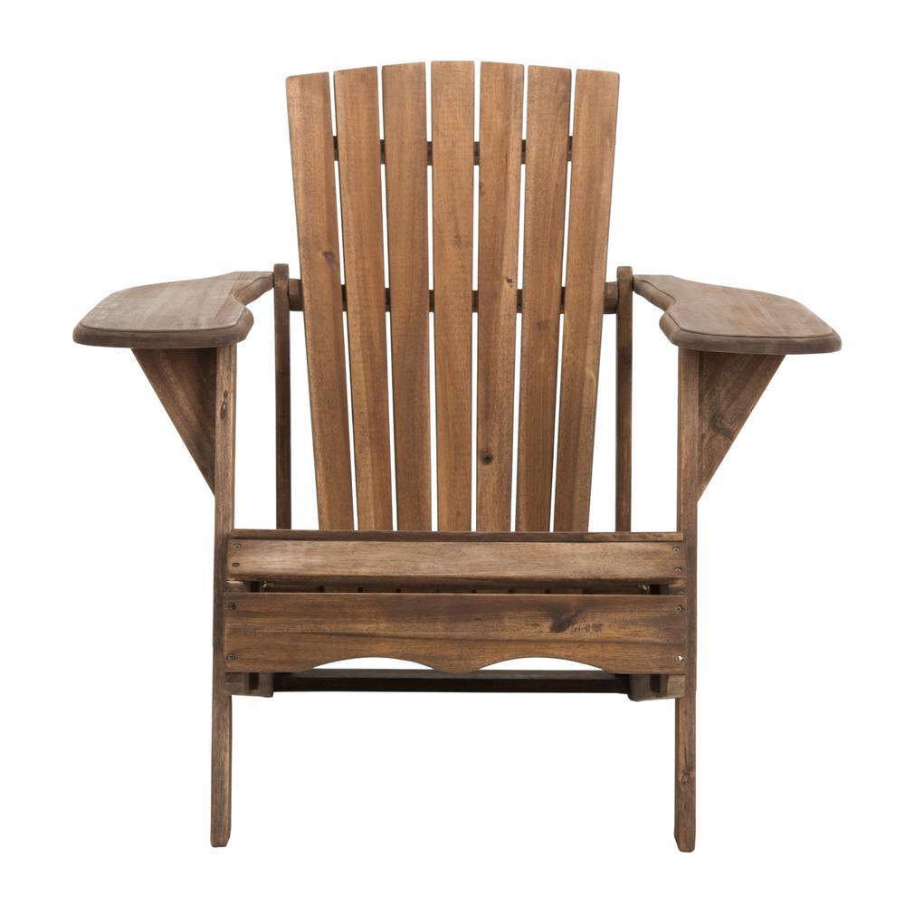 Mopani Rustic Brown Wood Adirondack Chair