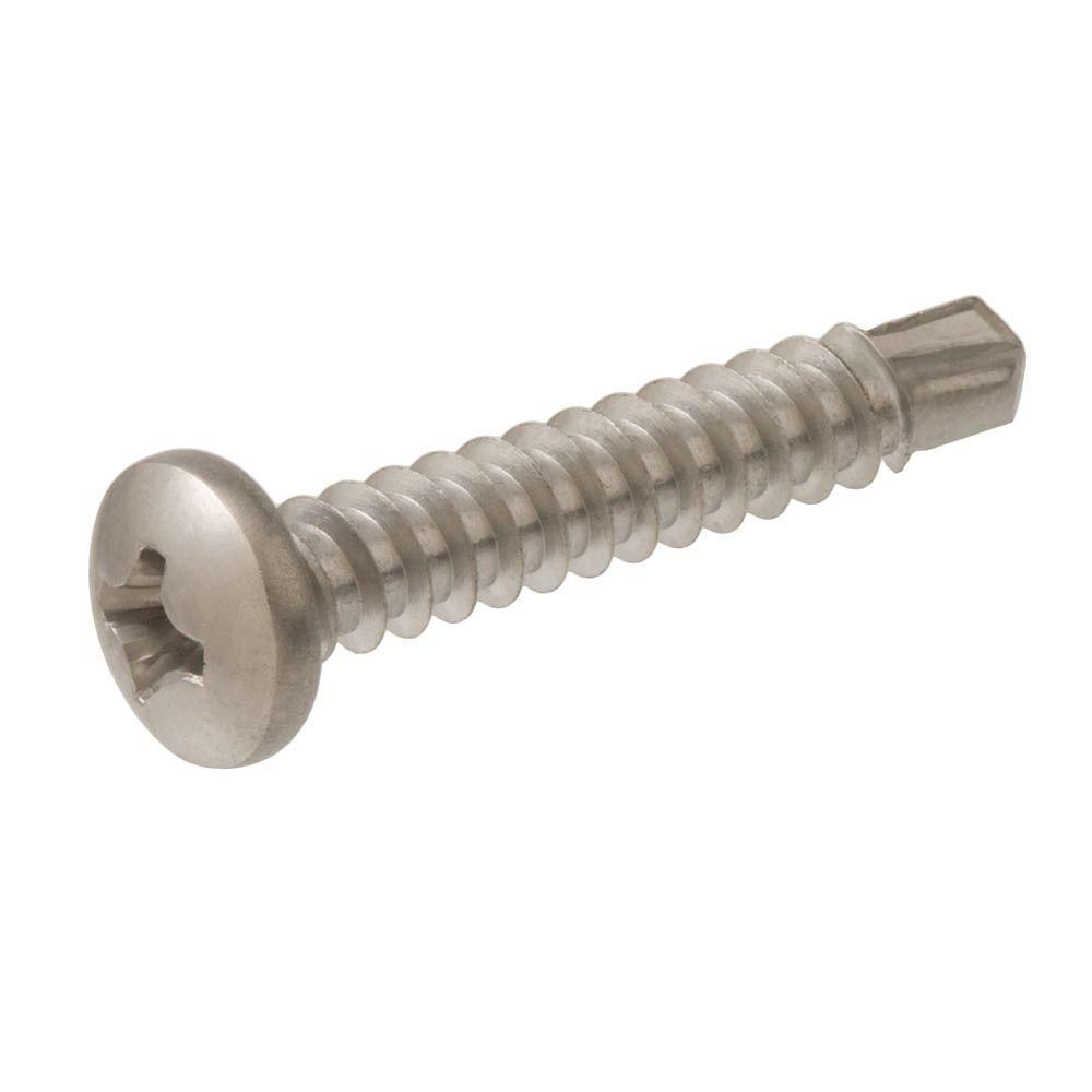#6 x 1/2 in. Stainless Steel Pan-Head Phillips Self-Drilling Sheet Metal Screws (2-Pack)