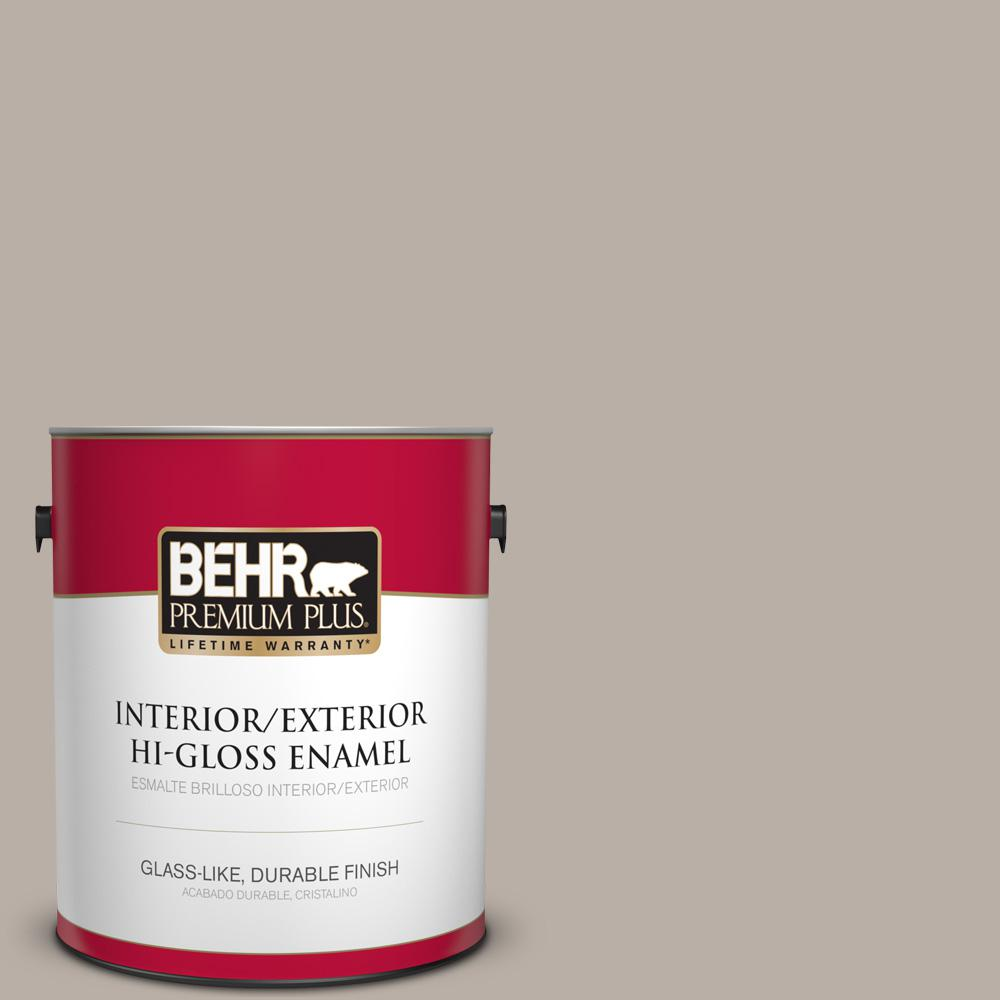 1 gal. #T18-08 Off The Grid Hi-Gloss Enamel Interior/Exterior Paint