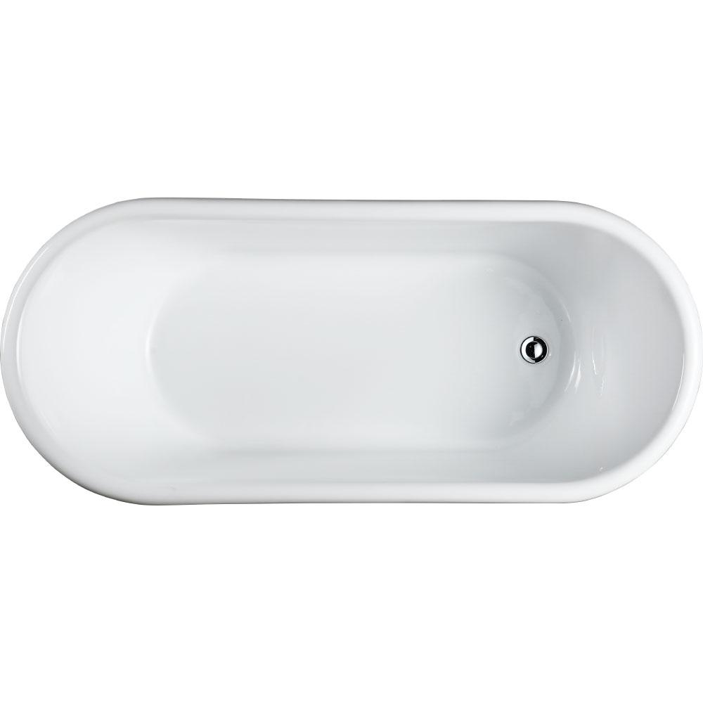 Padua 63 in. Acrylic Flatbottom Non-Whirlpool Freestanding Bathtub in Glossy
