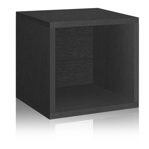 13 in. H x 13 in. W x 11 in. D Black Recycled Materials 1-Cube Storage Organizer