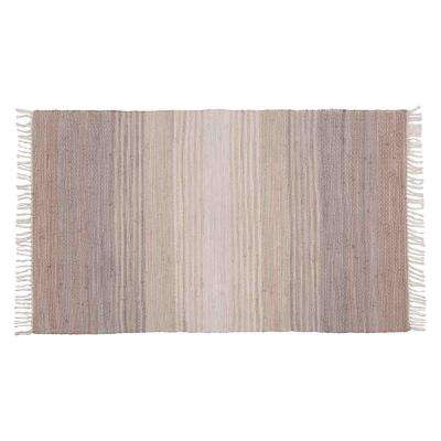 Chindi Silver Grey 36 in. x 60 in. Woven Mat