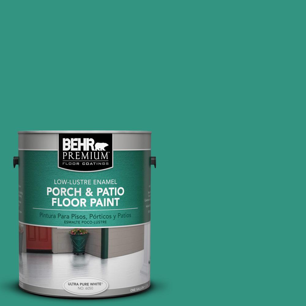 1 gal. #P440-6 Esmeralda Low-Lustre Porch and Patio Floor Paint
