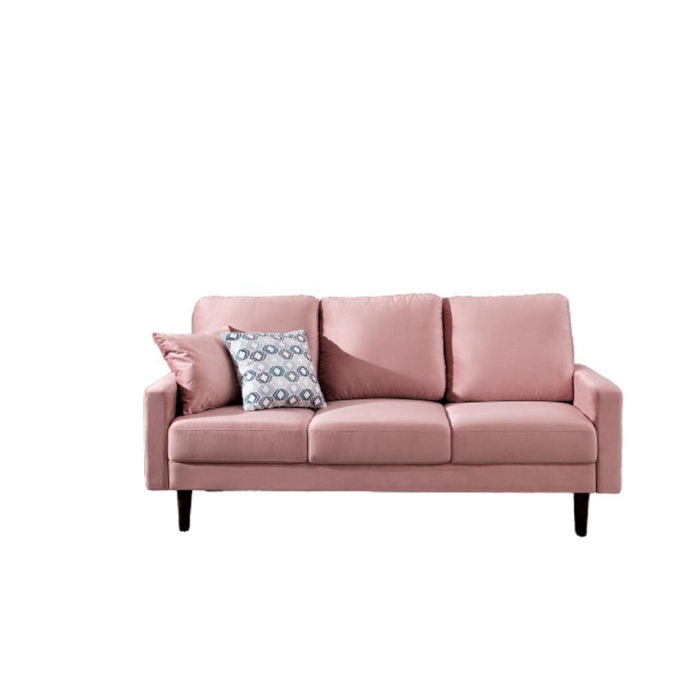 Josiah Velvet Sofa Pink