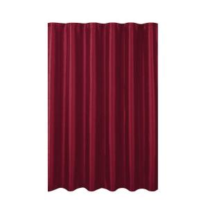 Creative Home Ideas Jane Faux Silk 70 inch W x 72 inch L Shower Curtain with Metal Roller Hooks in Burgundy by Creative Home Ideas