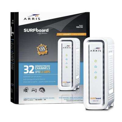 SURFboard Gigabit+ DOCSIS 3.0 32 x 8 Cable Modem SB6190 in White