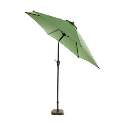 9ft. Aluminum Push Button Tilt Patio Umbrella in Fern