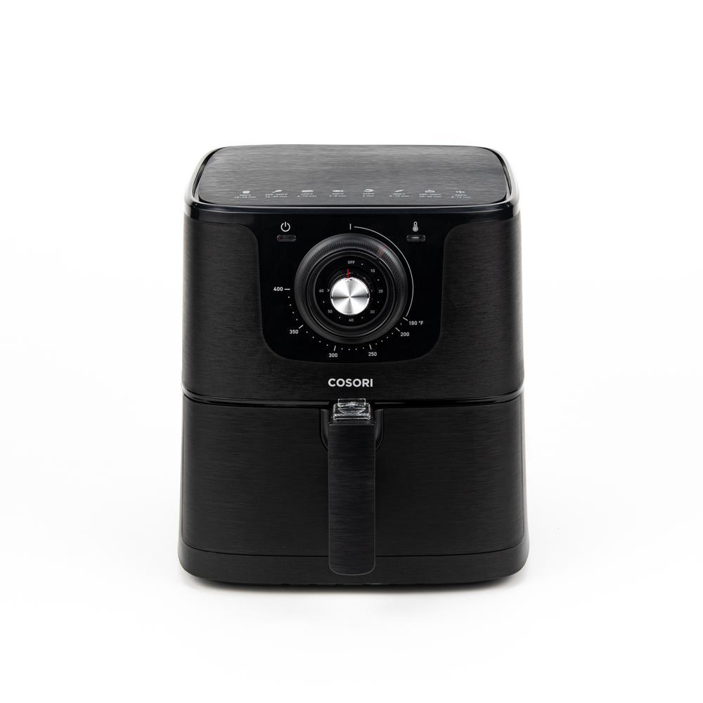 Premium Black 5.8 QT Air Fryer with Bonus Skewer Rack Set
