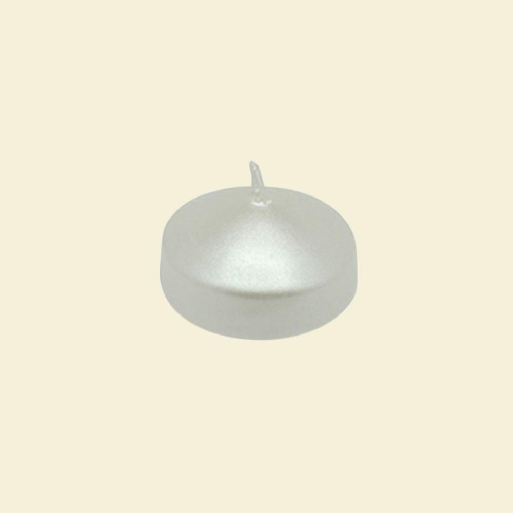 Zest Candle 1.75 in. Pearl White Floating Candles (Box of 24)