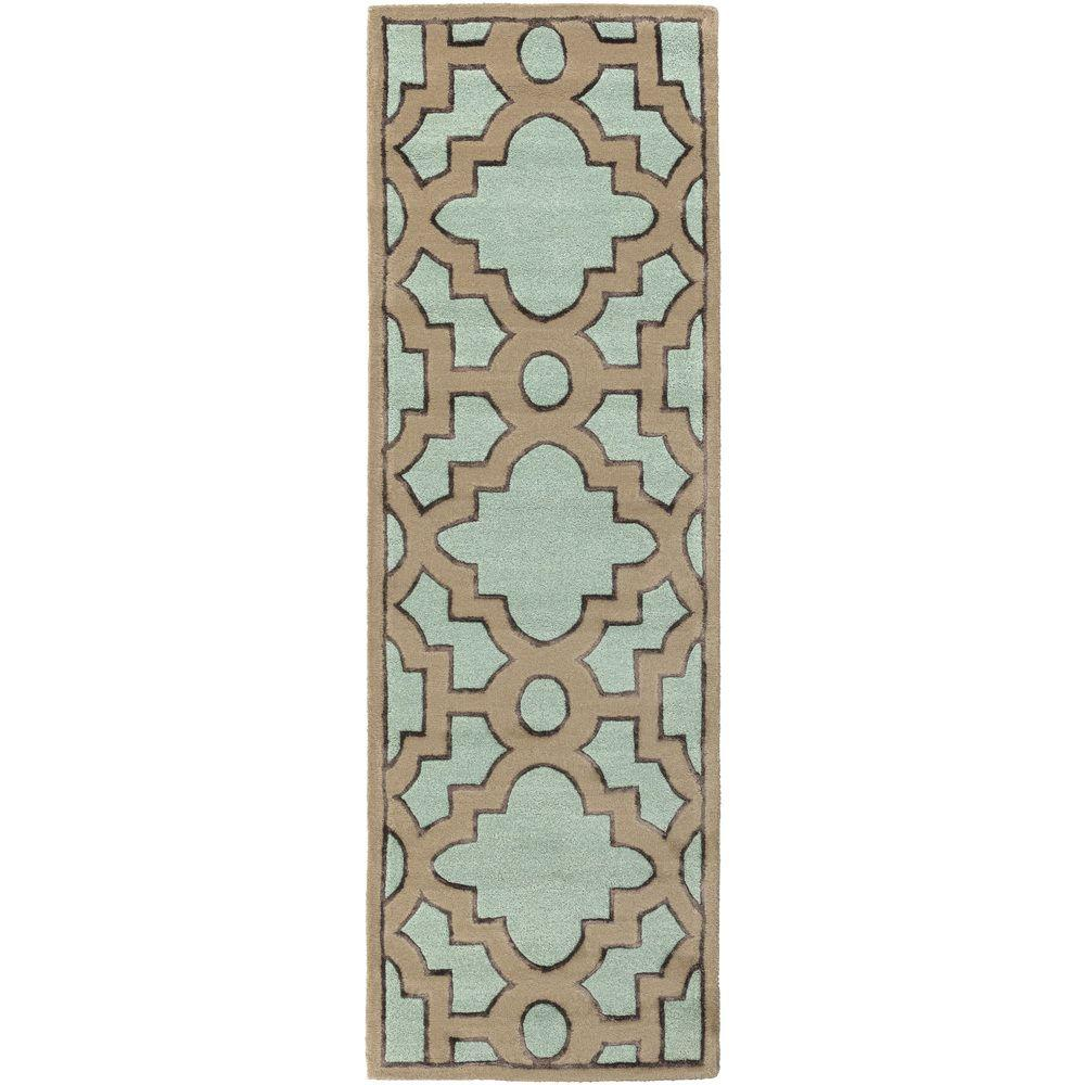 Dannevirke Teal 2 ft. 6 in. x 8 ft. Indoor Rug