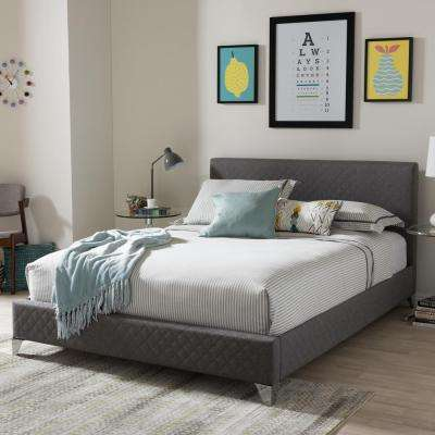 Harlow Gray King Upholstered Bed