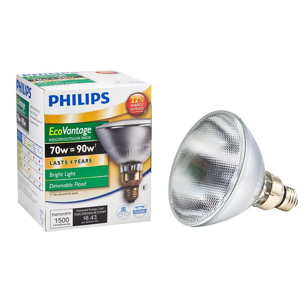 Philips 90-Watt Equivalent Halogen PAR38 Dimmable Indoor
