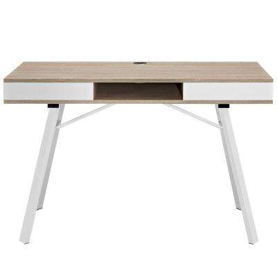 Stir Oak Office Desk